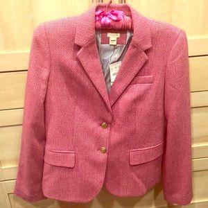 J crew pink patterned blazer size 6 NWT